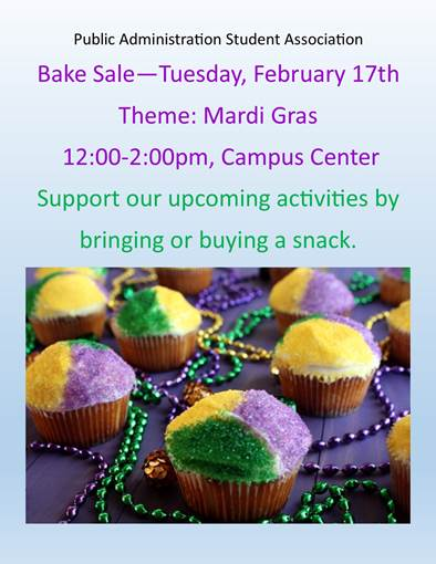 bake sale flyer – Department of Public Policy and Administration